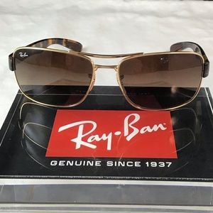 Ray-Ban RB3522 001/13 Tortoise Brown Gradient Sun